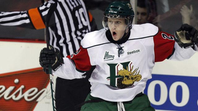 0b4eb771032 Halifax Mooseheads star Nathan MacKinnon was drafted by the Baie-Comeau  Drakkar in 2011. (CP photo)