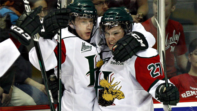 a55b9c474fd Halifax Mooseheads  Jonathan Drouin and Nathan MacKinnon.