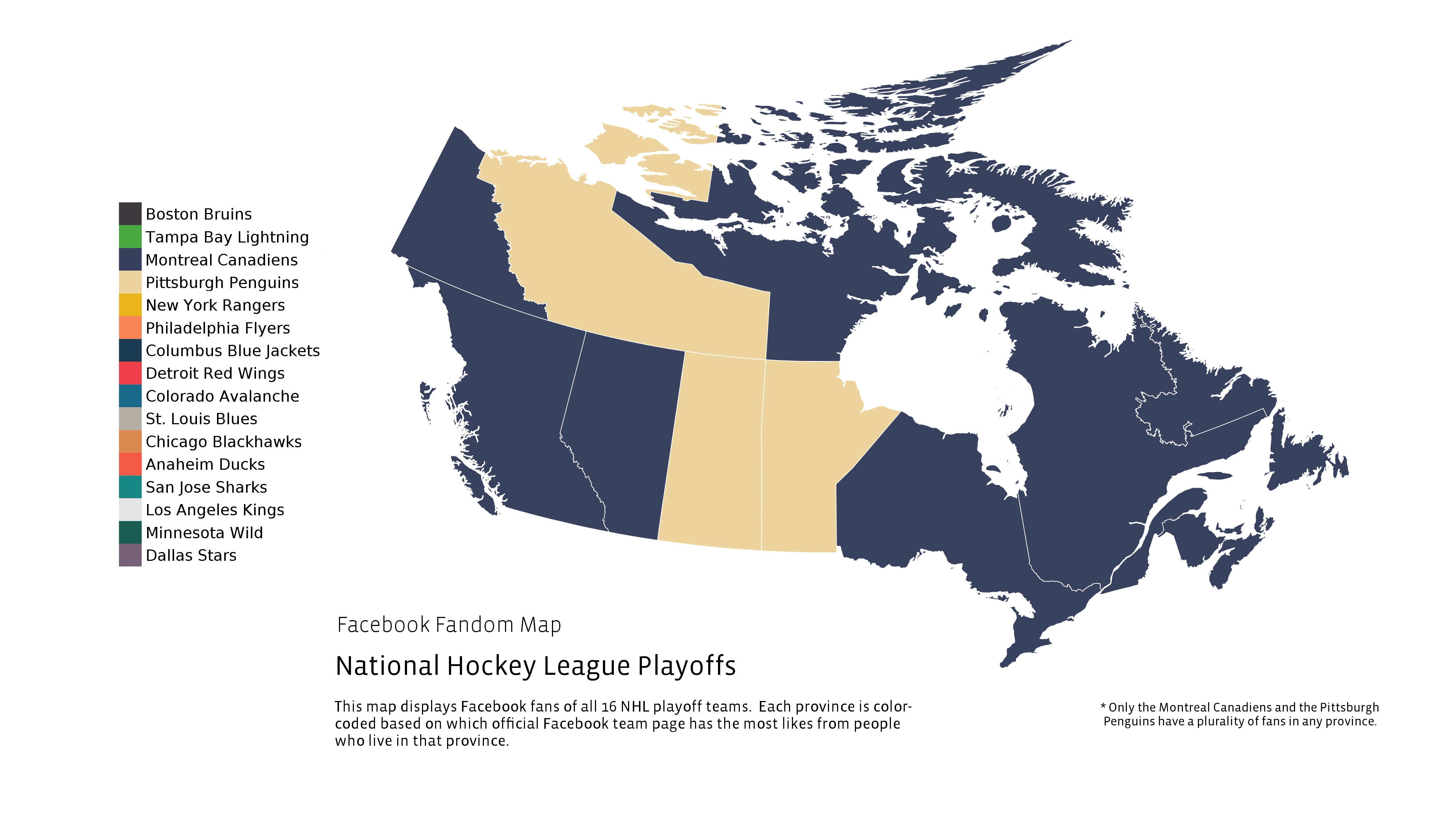 Map Who Canadians Like To Win The Cup Sportsnetca - Map us stanley cup penguins sharks