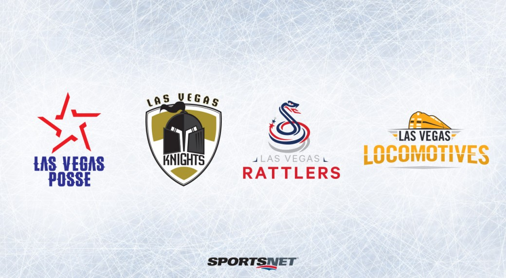 Four Las Vegas NHL Team Mock Logos