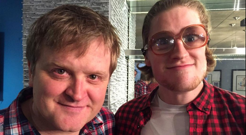 ... Smith (aka Bubbles) with Nathan MacKinnon. (Photo from @MSmithBubbles