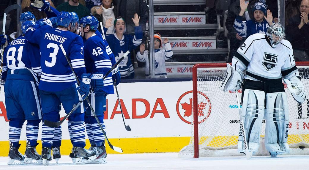 Los-Angeles-Kings;-Toronto-Maple-Leafs;-NHL;-Jonathan-Quick