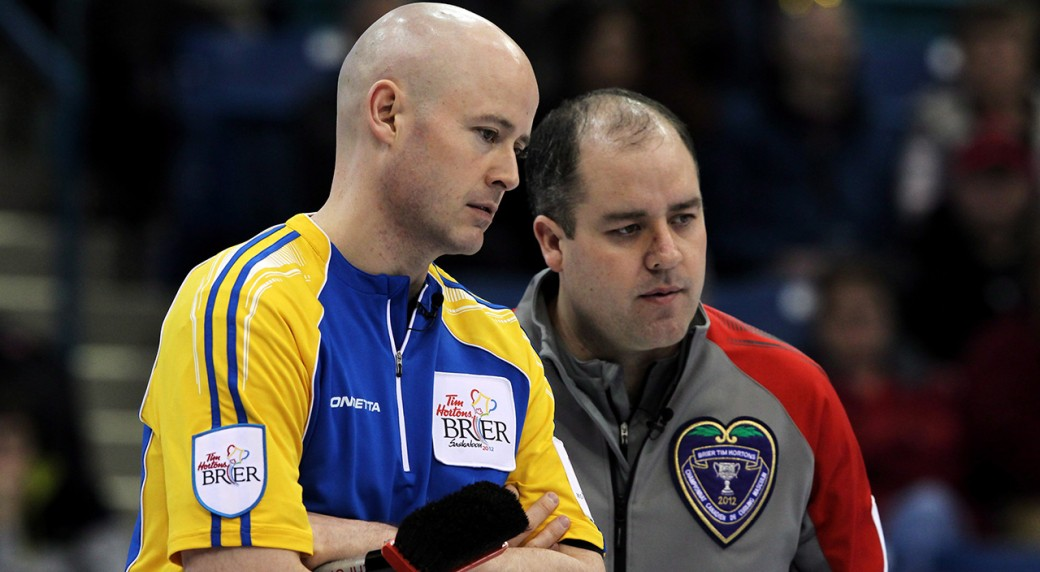 Kevin Koe Left Is Pictured With Younger Brother Jamie Koe Jamies Twin Sister Kerry Galusha Is Also A National Level Curler Jonathan Hayward Cp