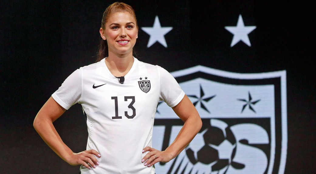 United States Forward Alex Morgan Poses In The New Black And White Home Uniform For US Womens World Cup Team Nick Ut AP