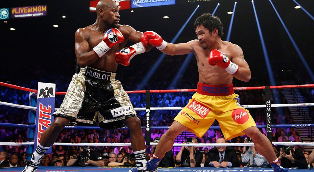 Manny Pacquiao challenges Floyd Mayweather for a rematch