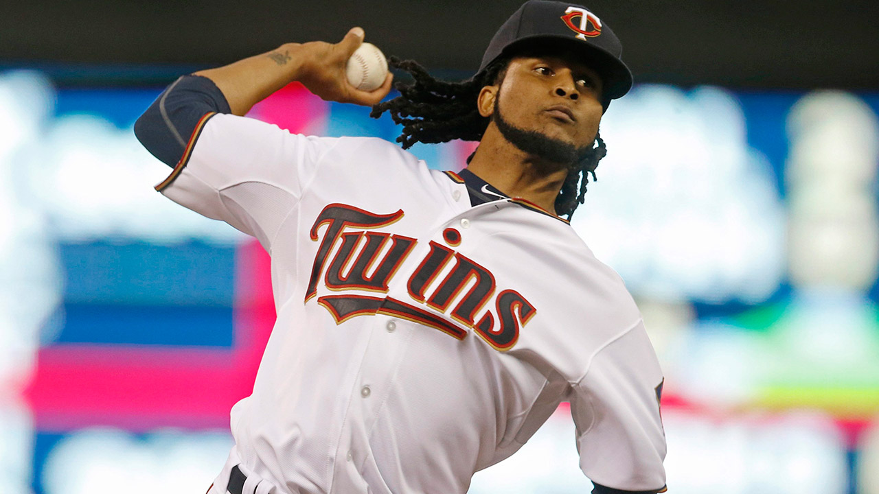 Minnesota Twins pitcher Ervin Santana is drawing some interest from the Texas Rangers. (Jim Mone/AP)