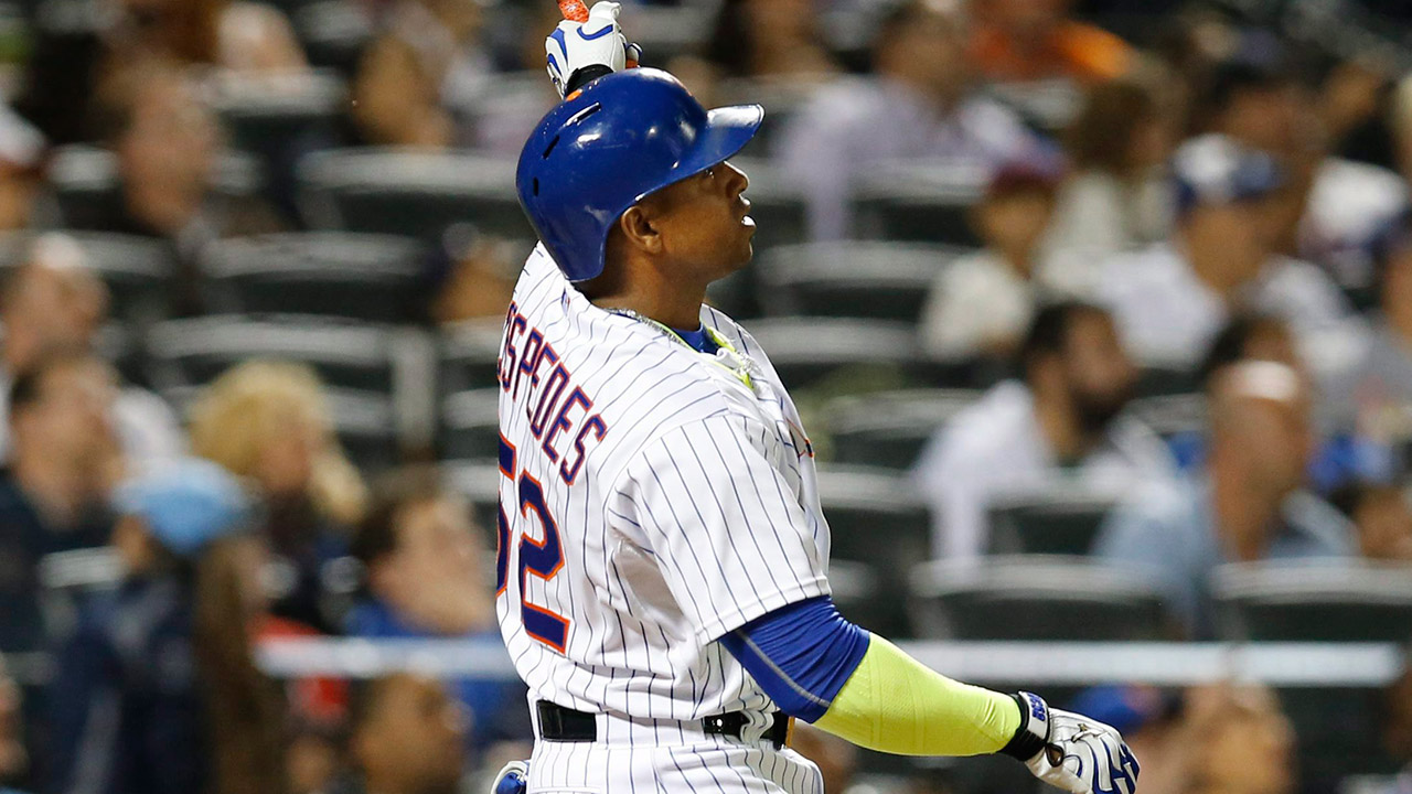 Yoenis Cespedes was a key player for the Mets in the NLDS. (Kathy Willens/AP)