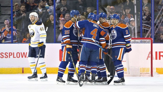 Hall And Purcell Shine As Oilers Overpower Sabres
