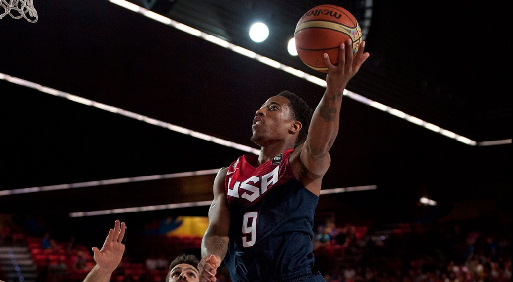 0d74b9315f0 DeMar DeRozan is one of 30 players competing for a roster spot on team USA  Men's Olympic team. (Alvaro Barrientos/AP)