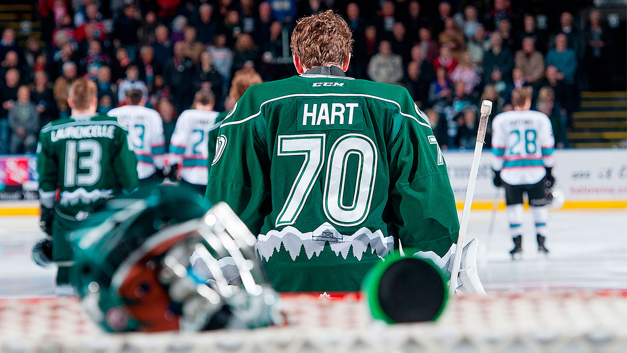 Carter Hart; Everett Silvertips; BMO-CHL Top Prospects Game; WHL; 2016 NHL Draft; CHL; Sportsnet; WHL Playoffs
