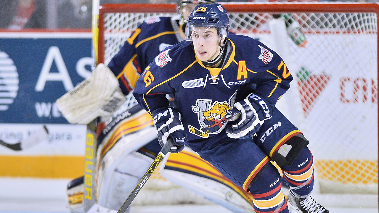 Andrew Mangiapane; Barrie Colts; OHL; CHL; 2015 NHL Draft; Calgary Flames
