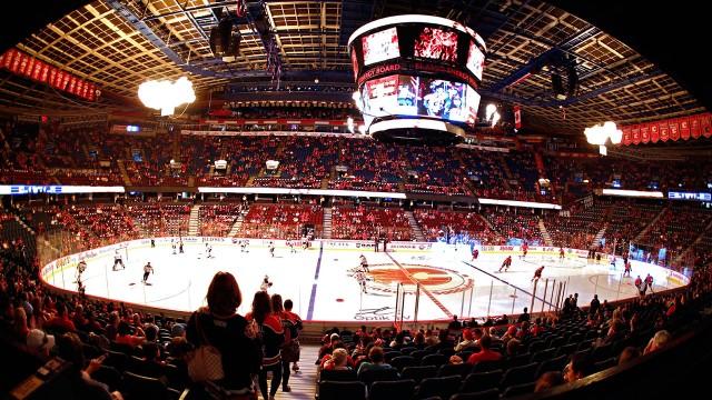 Fans-enter-the-Saddledome
