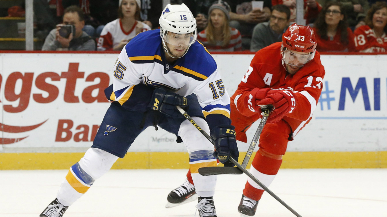 Blues' Fabbri to miss rest of training camp after re-injuring knee
