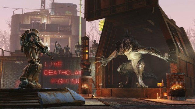 Battle a deathclaw in Fallout 4's upcoming DLC. Image courtesy of Bethesda