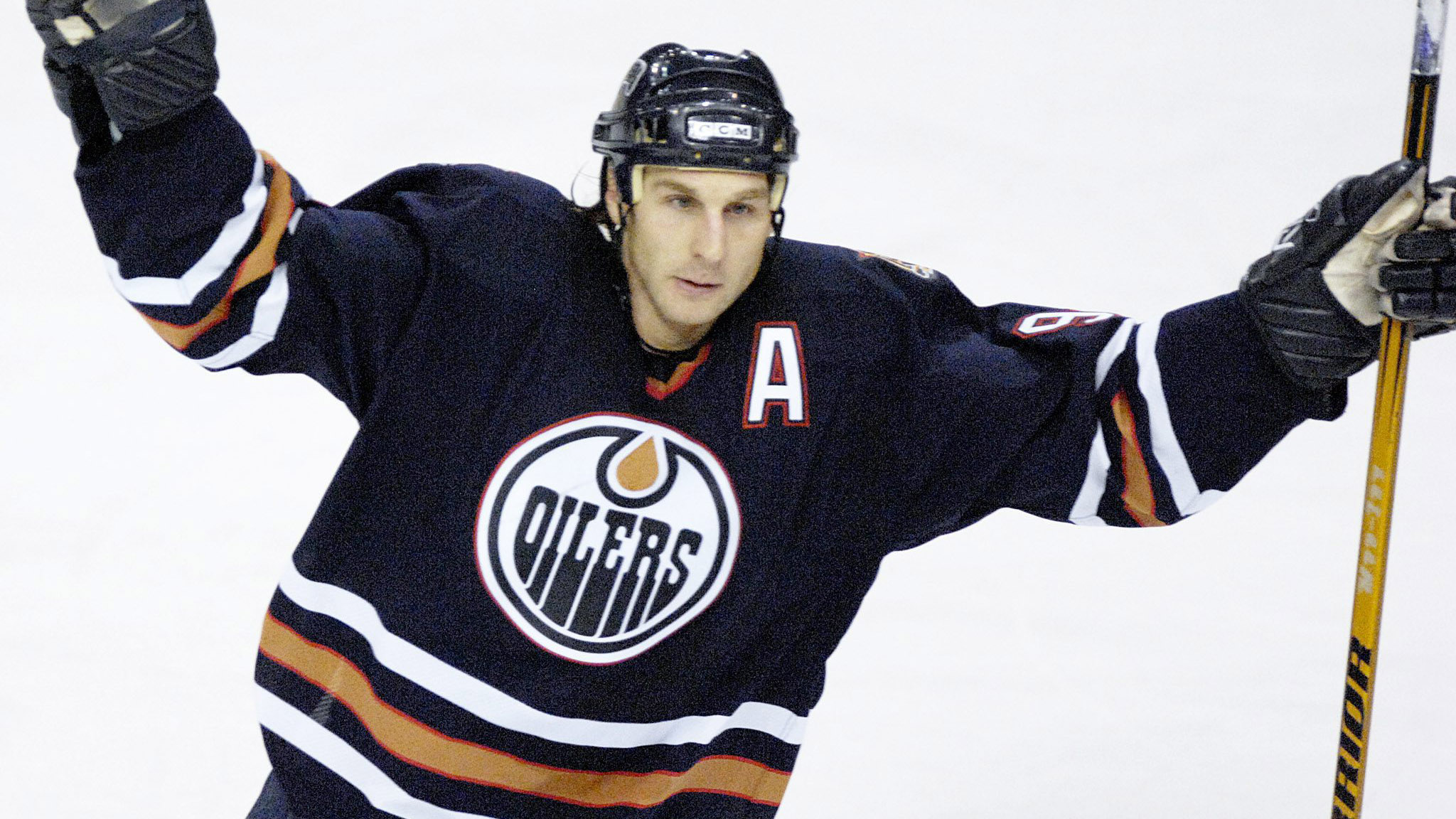 Ryan Smyth celebrates a goal with the Edmonton Oilers in 2007. (Jimmy Jeong/CP)