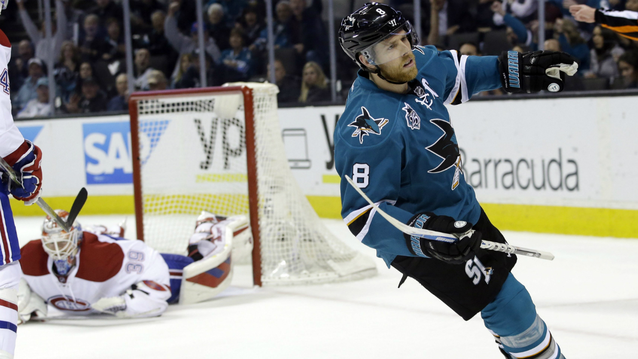 Pavelski, Thornton Lead Sharks In Dominant Win Vs. Canadiens