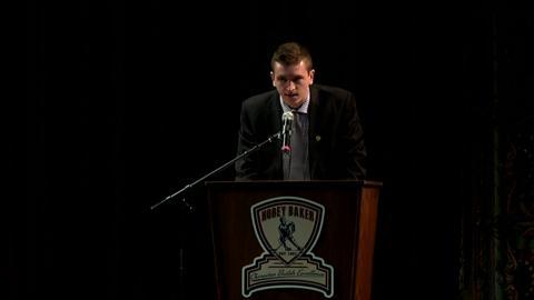 NCAA: Jimmy Vesey Wins Hobey Baker Award (video)
