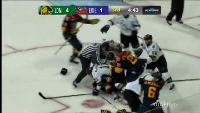 OHL: Brawl Breaks Out Between Knights And Otters