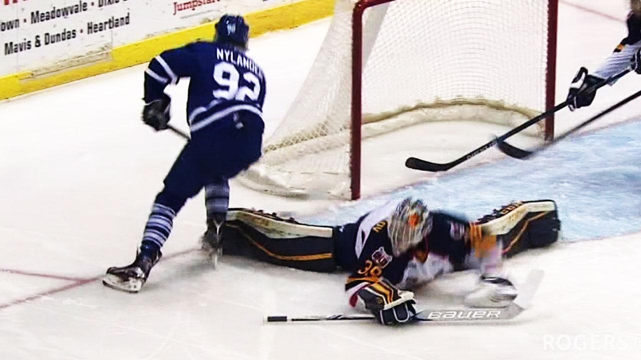 Goal Of The Year? OHL's Mississauga Steelheads's Alex Nylander Deke Leaves Goalie's Jock Strap In Rafters (video)