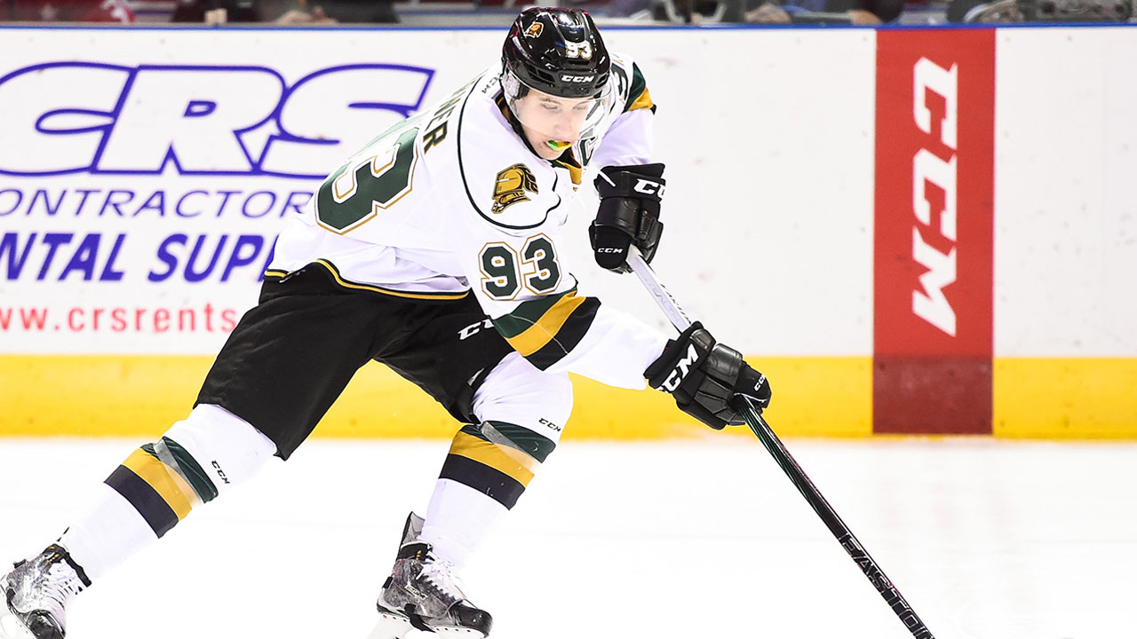 OHL: Four More Points For Marner In Knights Game 1 Win Over Otters