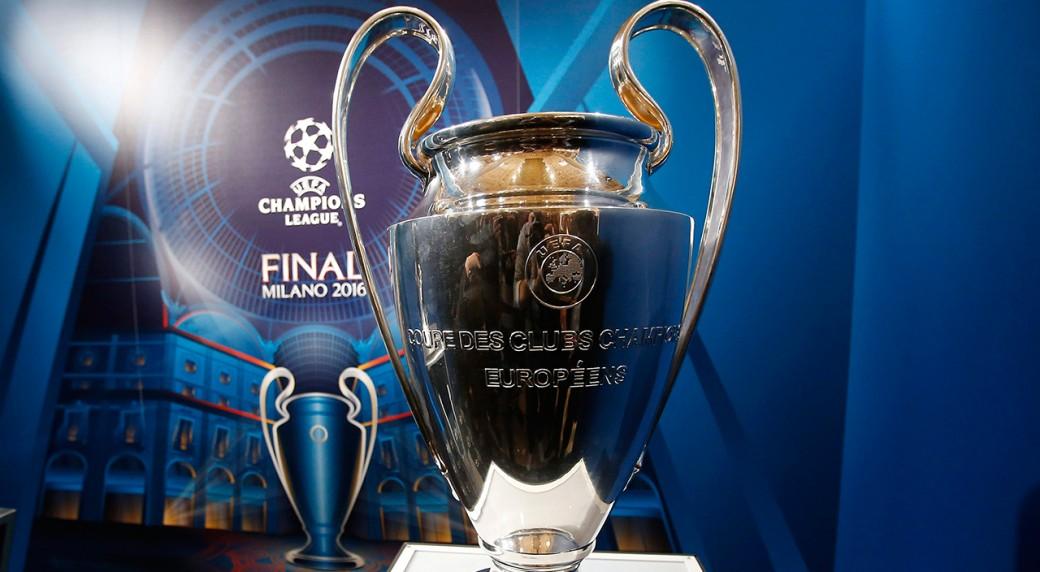 The Champions League Trophy Antonio Calanni AP