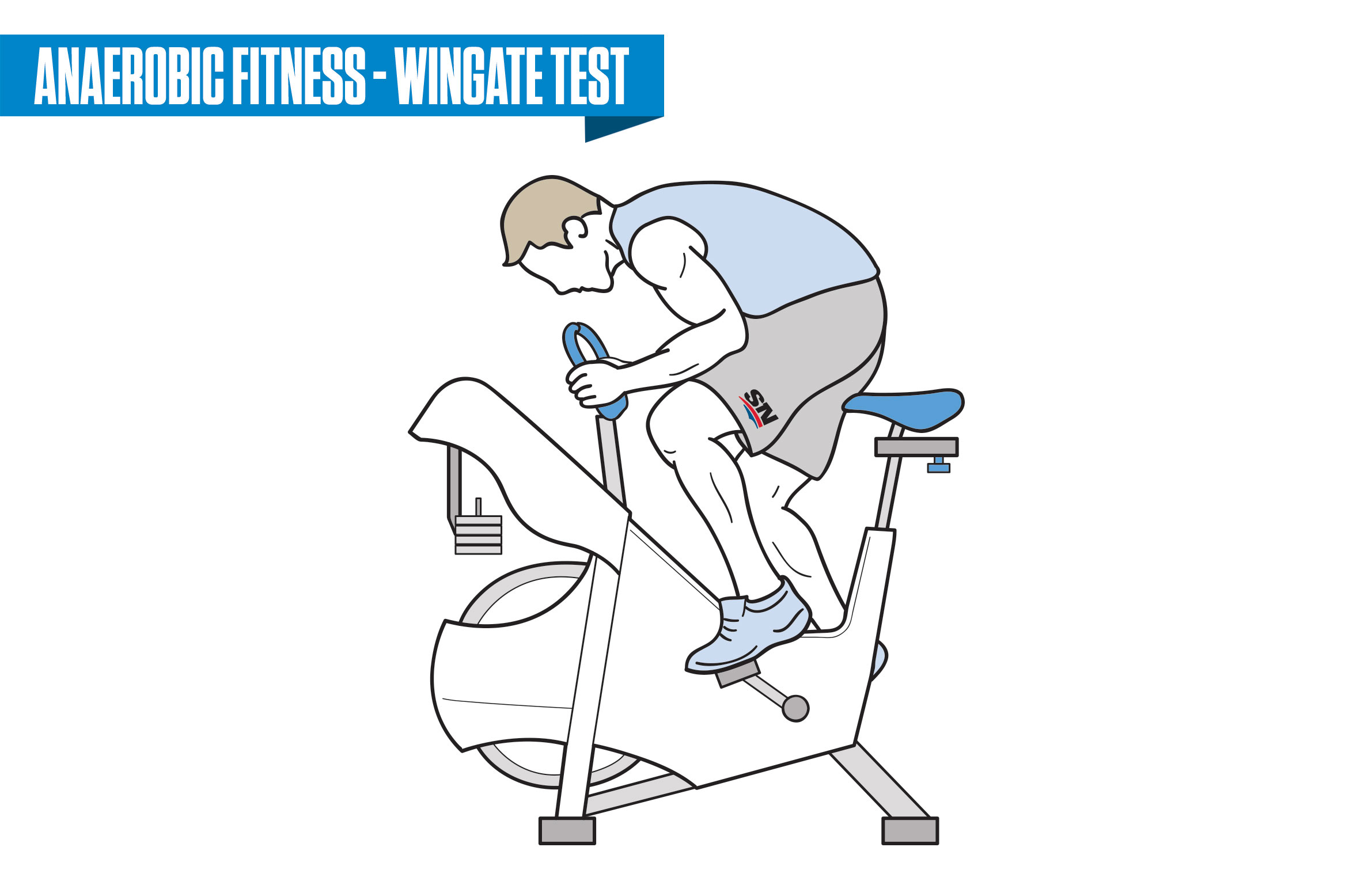 simple wingate cycle ergometer test u athlete warms up by. Black Bedroom Furniture Sets. Home Design Ideas