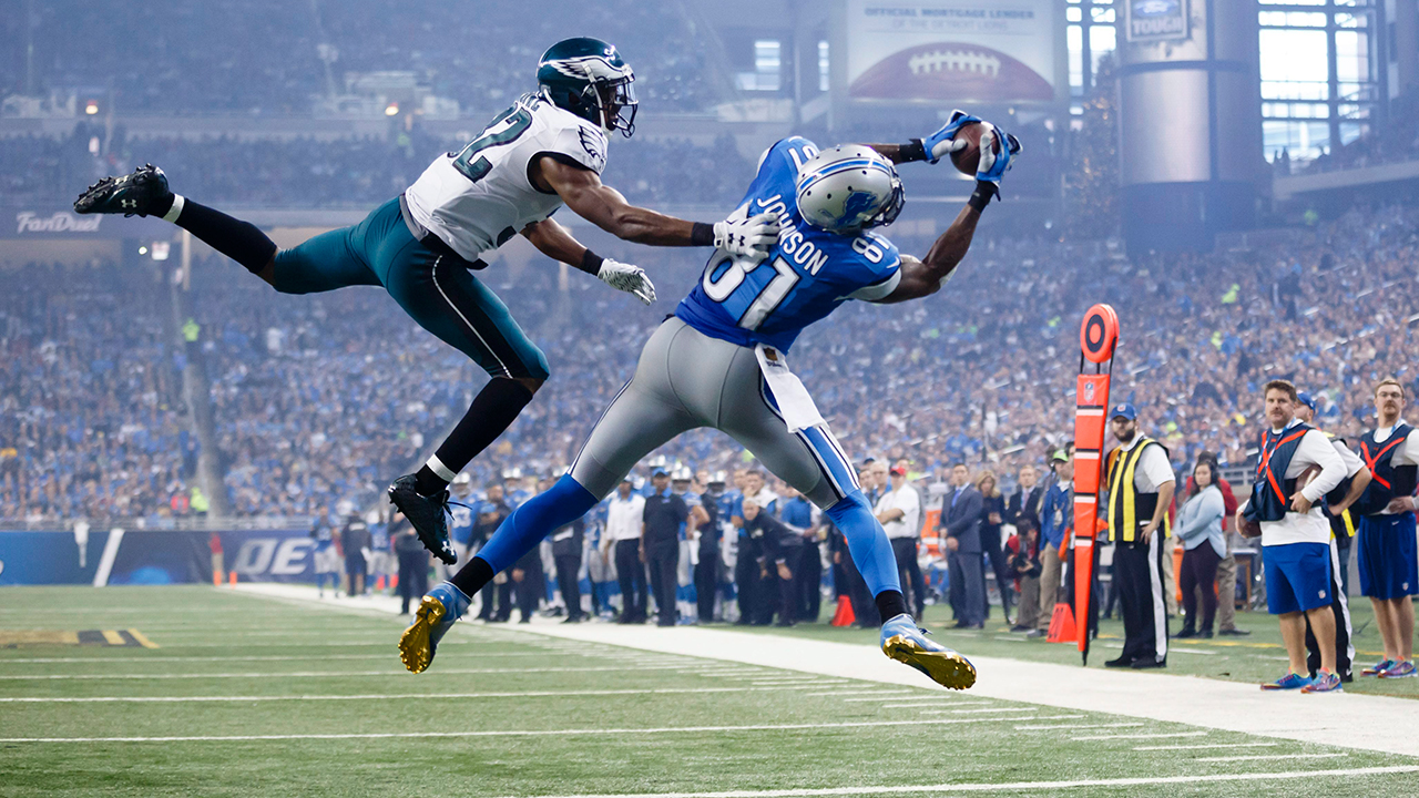 Despite playing in only nine seasons in the NFL, Calvin Johnson was named to six Pro Bowls and was a three-time first team All-Pro. (Rick Osentoski/AP)