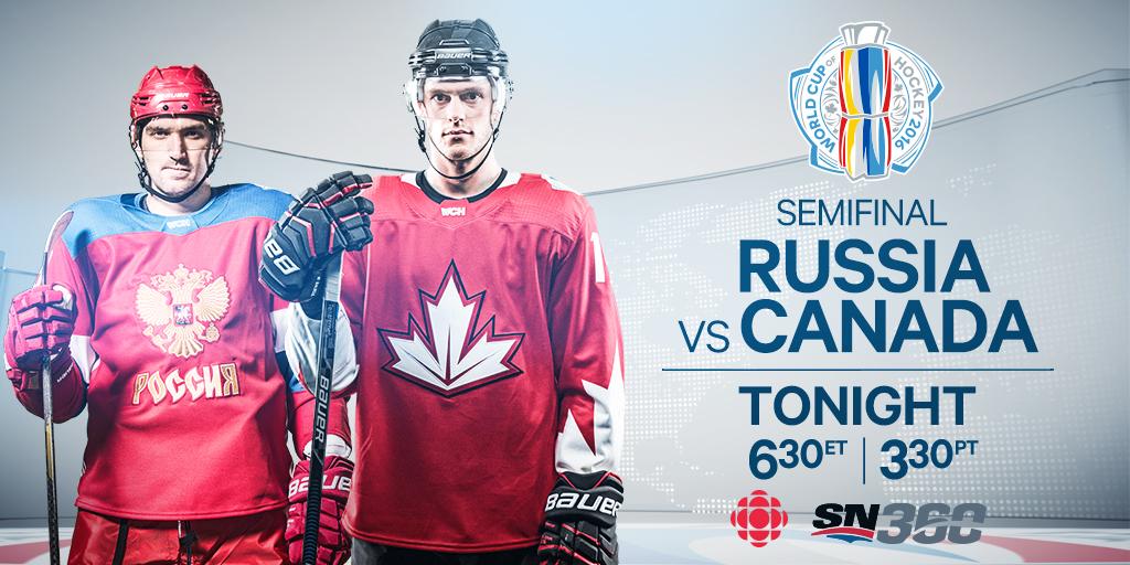 Canada beats Russia 5-2, advances to World Cup finals