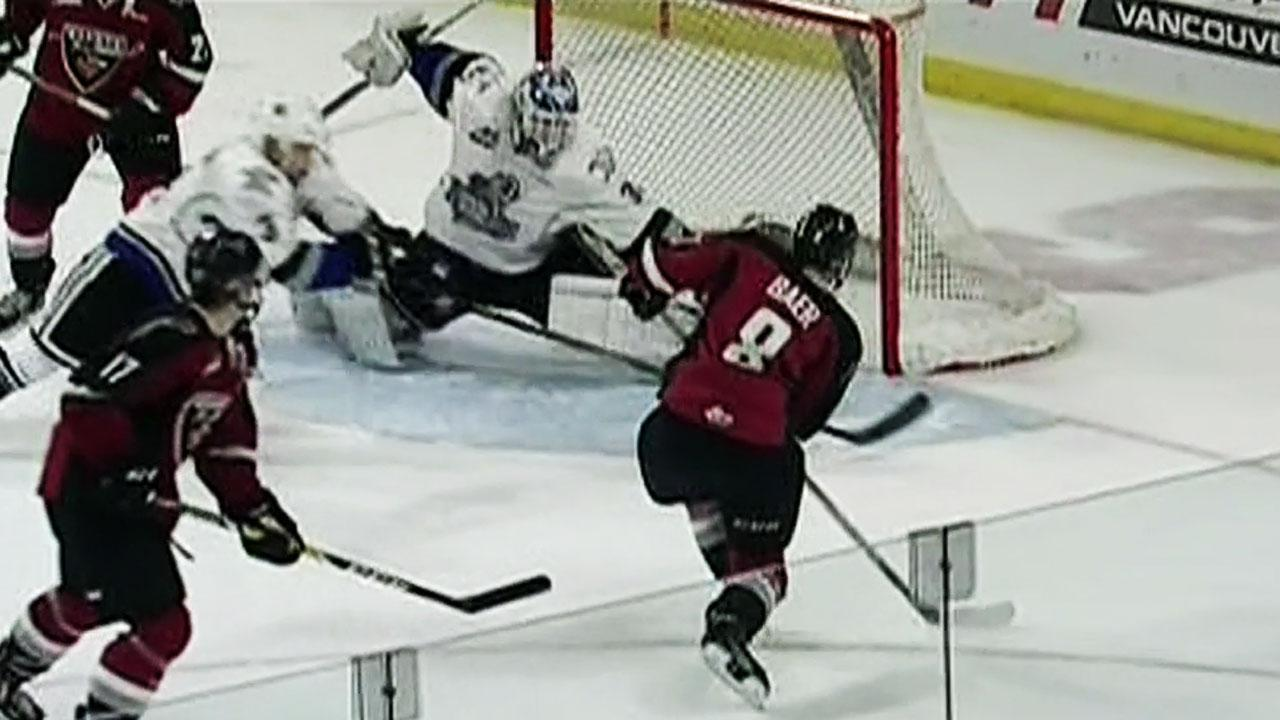 WHL: Outhouse Makes Great Glove Save (video)