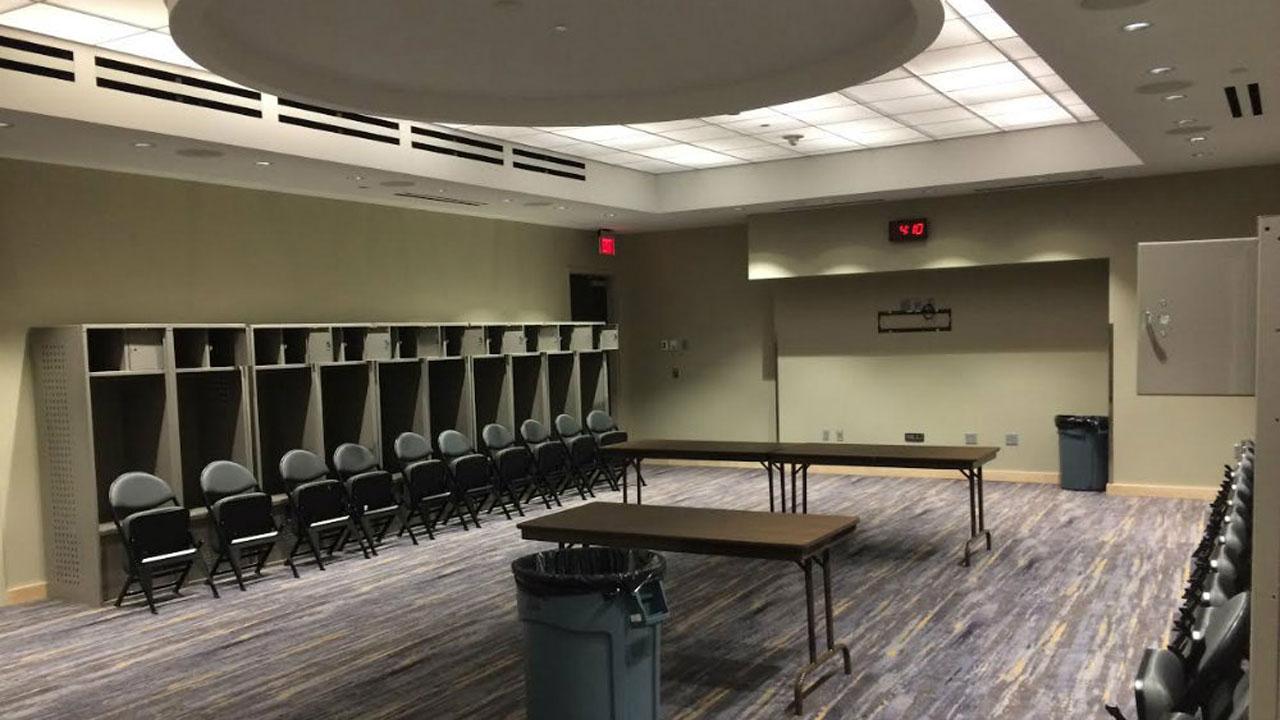 Dressing room. (Vegas Is Hockey website)