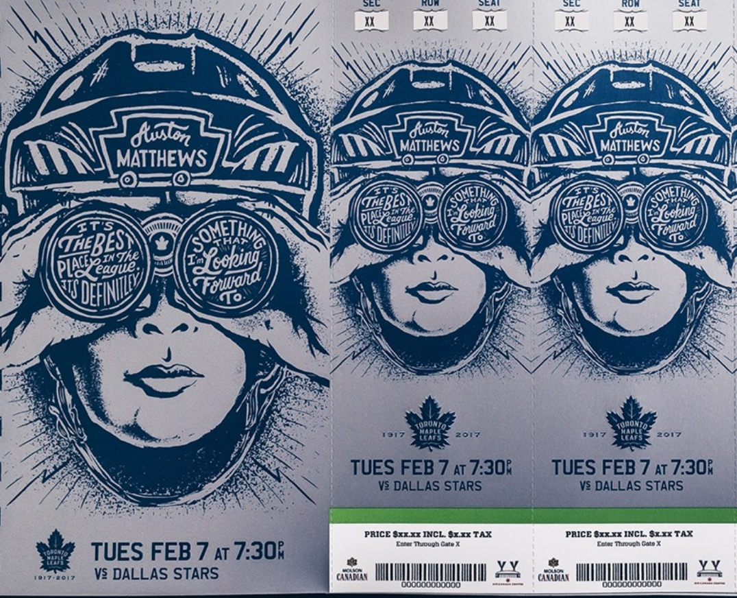 Toronto Maple Leafs Get Artsy With Awesome New Tickets Sportsnet Ca
