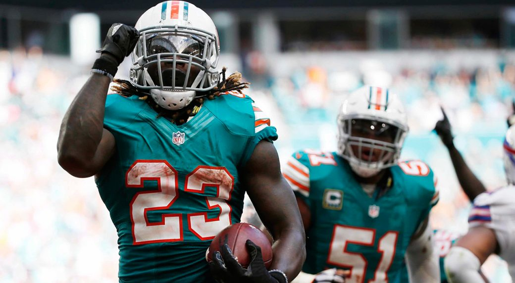 43a56d7422d Question Period: Is Ajayi and Dolphins' run game for real? Miami Dolphins running  back Jay ...