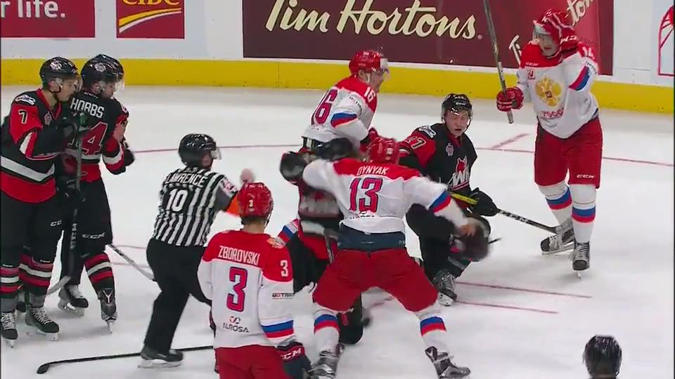 Tempers Boil Over At End Of Game 2 Of CIBC Canada Russia Series