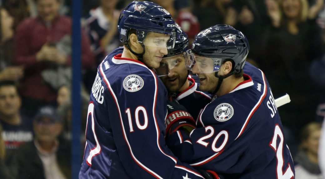 Blue Jackets win 14th consecutive game against Jets