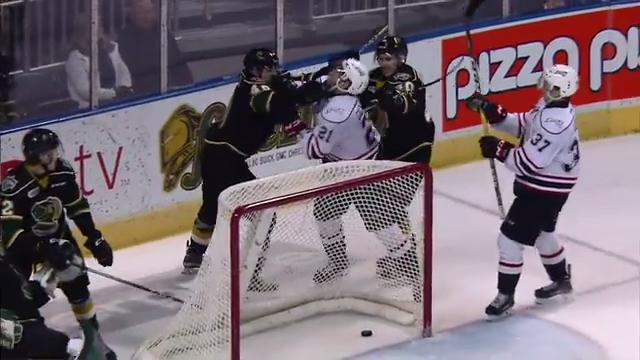 Knights' Jones Ejected For Vicious Cross-check To The Face Of Attack's Gadjovich (video)