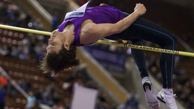 High-jumper-Ivan-Ukhov-competes-at-the-Russian-Winter-national-athletics-meet-in-Moscow,-Russia,-on-Sunday,-Feb.-5,-2017.-On-Monday,-track's-world-governing-body,-the-IAAF,-will-hold-a-council-meeting-with-the-stated-aim-of-drawing-up-a-road-map-for-Russia's-return.-(Ivan-Sekretarev/AP)