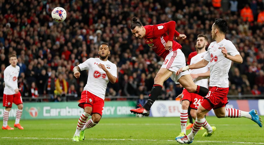 5cb68ea8541 Zlatan Ibrahimovic s brace wins League Cup for Manchester United ...