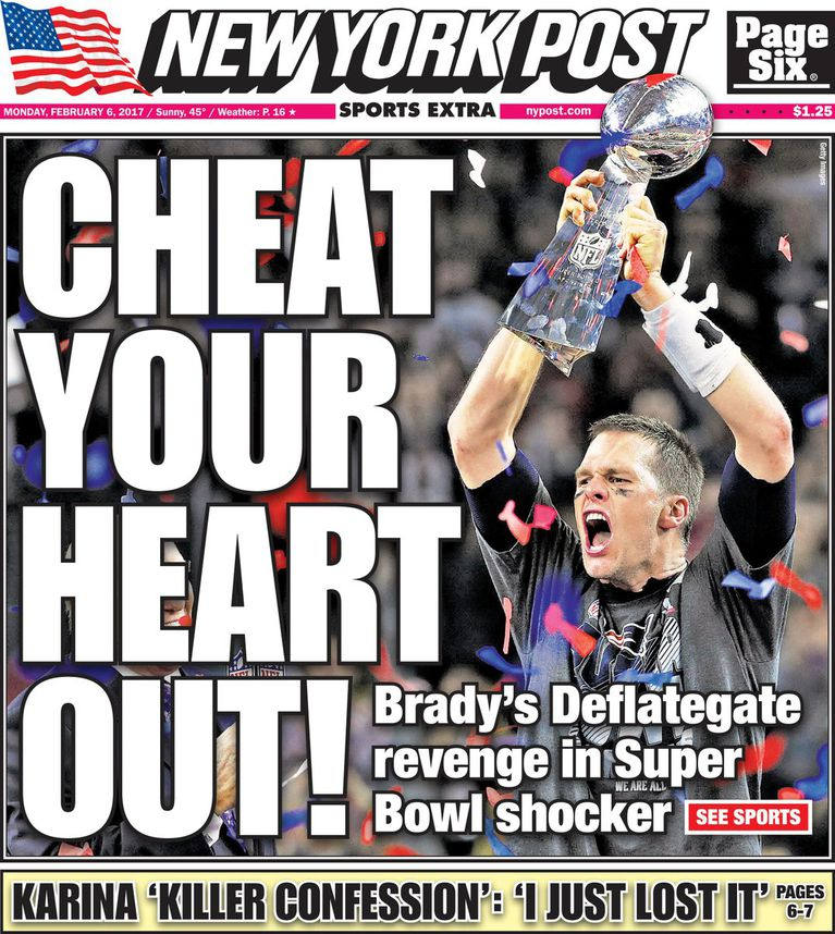 'Cheat Your Heart Out!' The Top 7 Super Bowl Newspaper