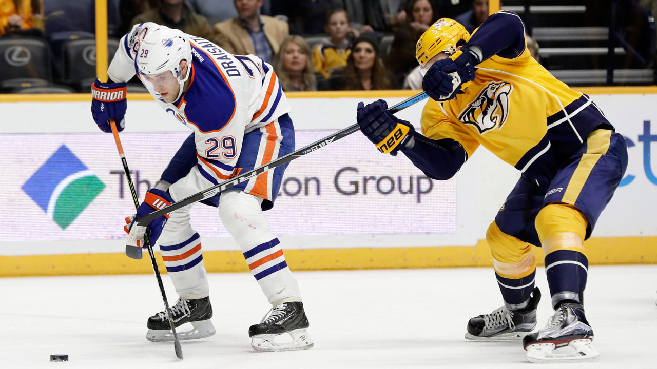 Oilers' Draisaitl out with eye injury, won't play vs. Senators