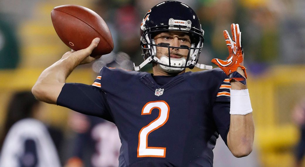 984d71af672 Former Chicago Bears quarterback Brian Hoyer (2) has agreed to join the San  Francisco 49ers. (Matt Ludtke/AP)