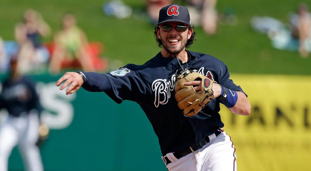 braves dansby swanson pulled with sore left wrist sportsnet ca