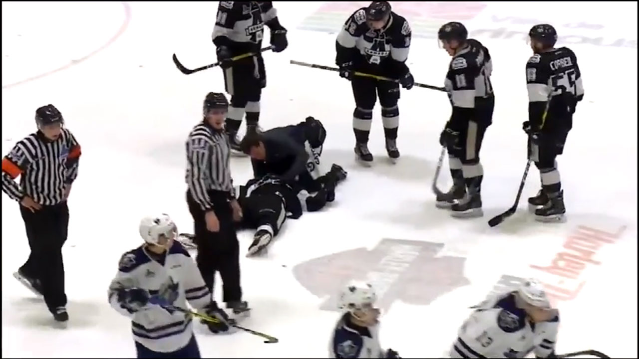 QMJHL: Armada's Remy Anglehart Stretchered Off After Hit To Head