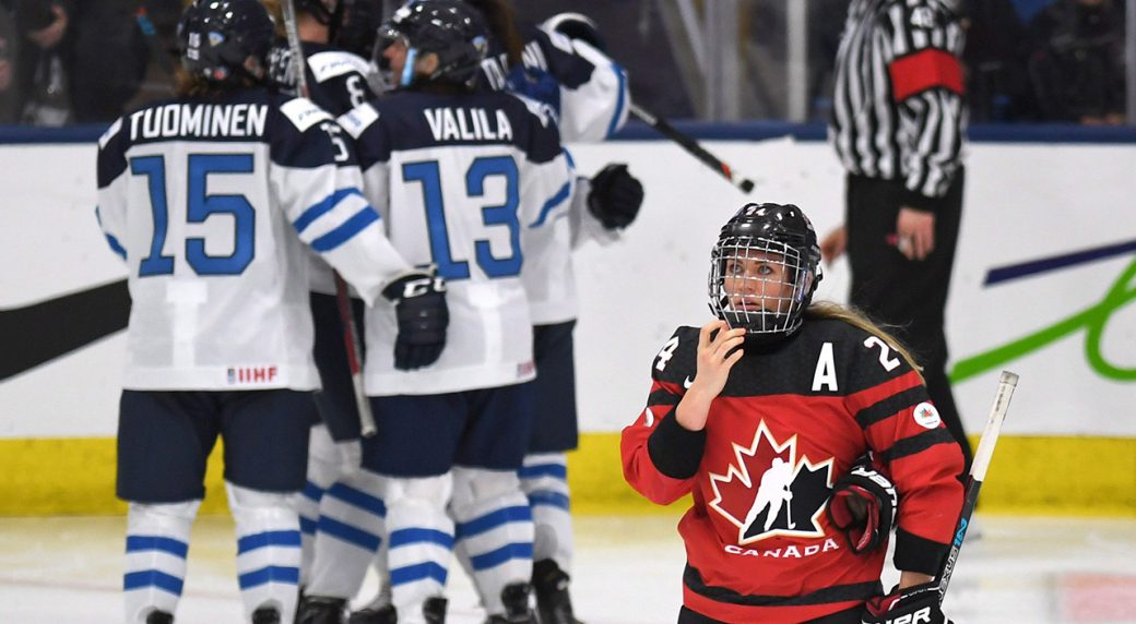 a5120b32ee4 Finland beats Canada for first time ever at women's world hockey  championship