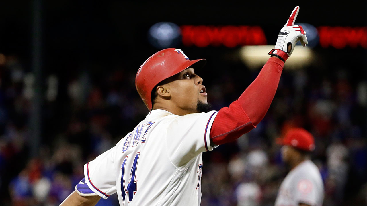 Carlos Gomez hits for cycle in Rangers win over Angels ...