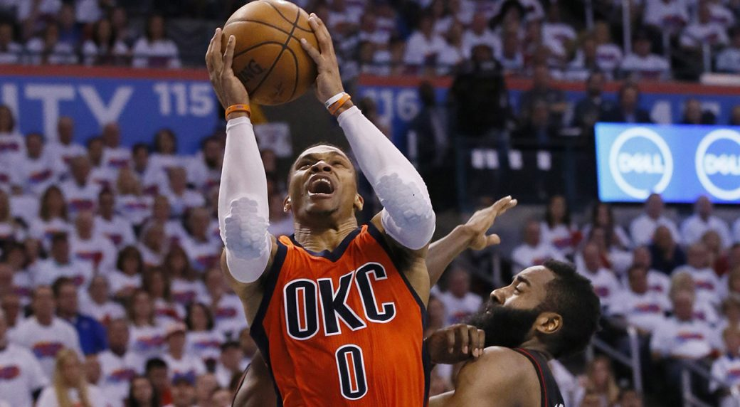 Westbrook gets 32, 13 and 11 in Thunder win