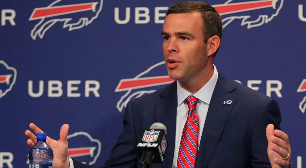 Bills introduce GM Brandon Beane