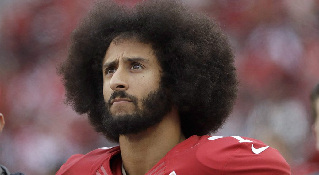624a8e93a AP source  Kaepernick watches ad s TV premiere from Nike HQ ...