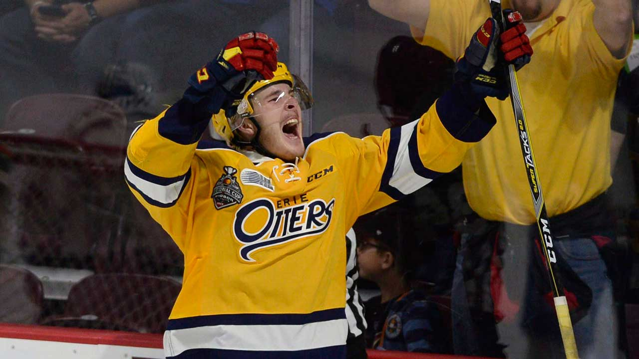 OHL: Otters Trade Raddysh, Sambrook To Greyhounds For Picks