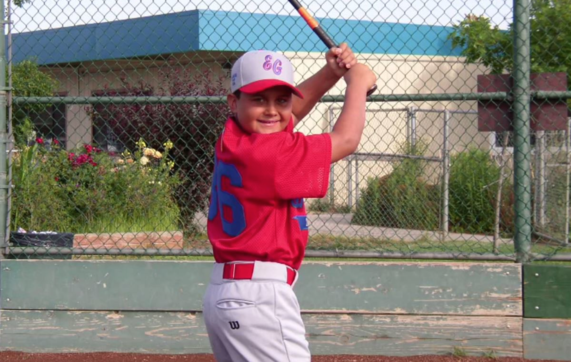 Toronto Blue Jays prospect  Rowdy Tellez as a youngster.