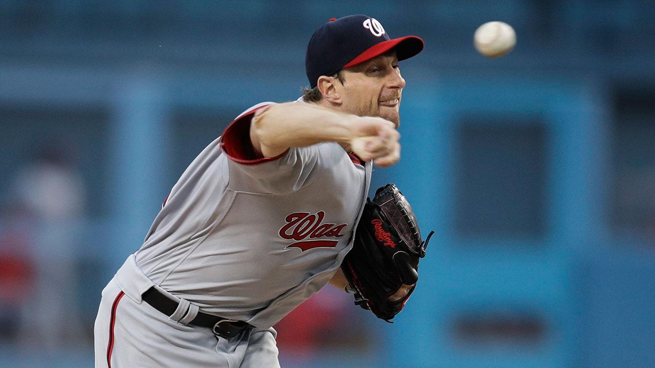 Scherzer bounces back from rough start as Nationals edge Braves